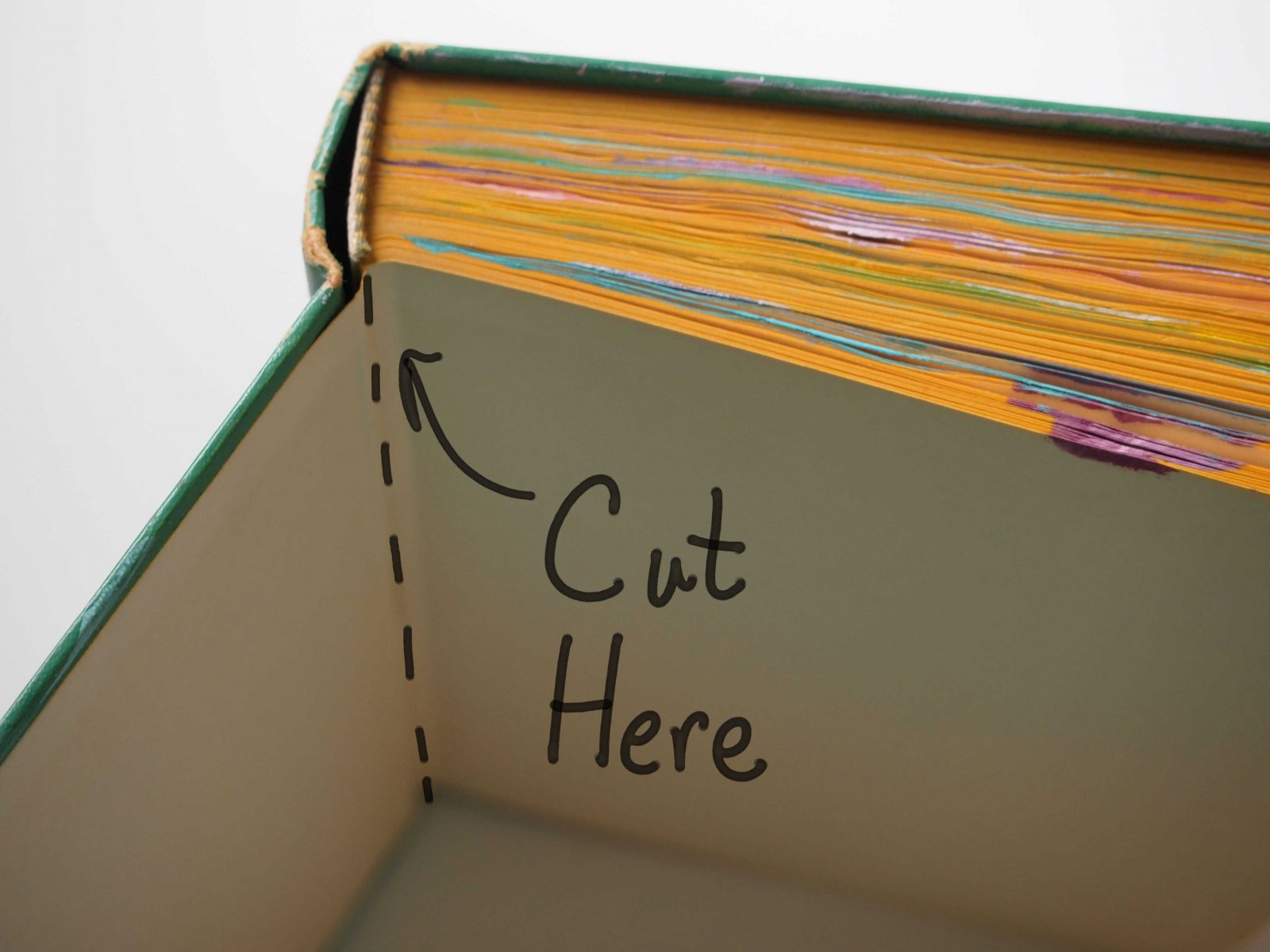 How to turn a book into a journal carolyn dube for How to make an old book