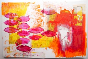 An art journal spread celebrating losing teeth by Carolyn Dube
