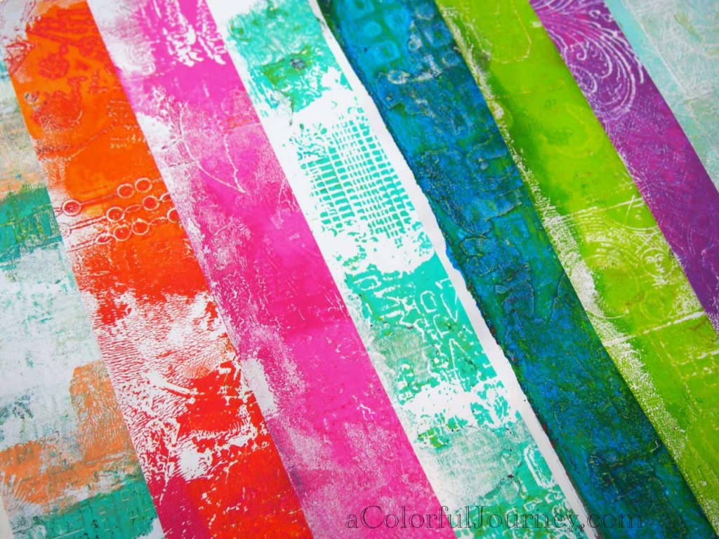 Gelli prints by Carolyn Dube