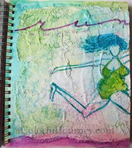 Carolyn Dube's Artsy Fartsy using Sue Pelletier's Stencil Girl stencil