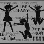 Jump for Joy By Jessica Sporn for Stencil Girl Products