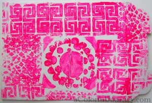 Video tutorial showing the steps to make a mixed media envelope using StencilGirl stencils and lots of layers with Carolyn Dube