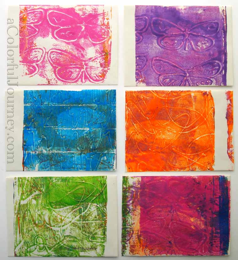 Video for October's Colorful Gelli Print Party making your own texture plate with Plaid fabric paint by Carolyn Dube