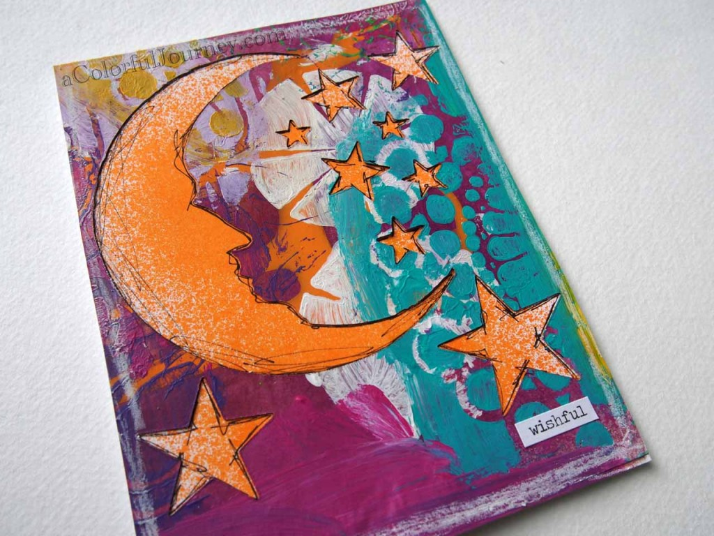 Video Using Stencil Play Paper with Sizzix Moon die to make a card by Carolyn Dube