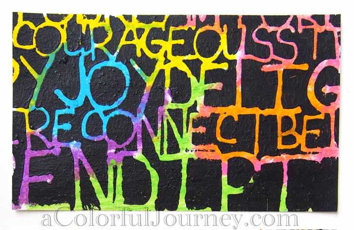 Video tutorial using oil pastels with a stencil designed by Carolyn Dube for StencilGirl Products