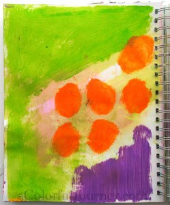 Video tutorial using Xryon adhesives and Kleenex in an art journal by Carolyn Dube with a few stencils too