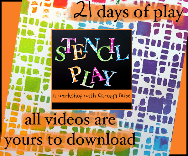 Stencil Play A Workshop by Carolyn Dube