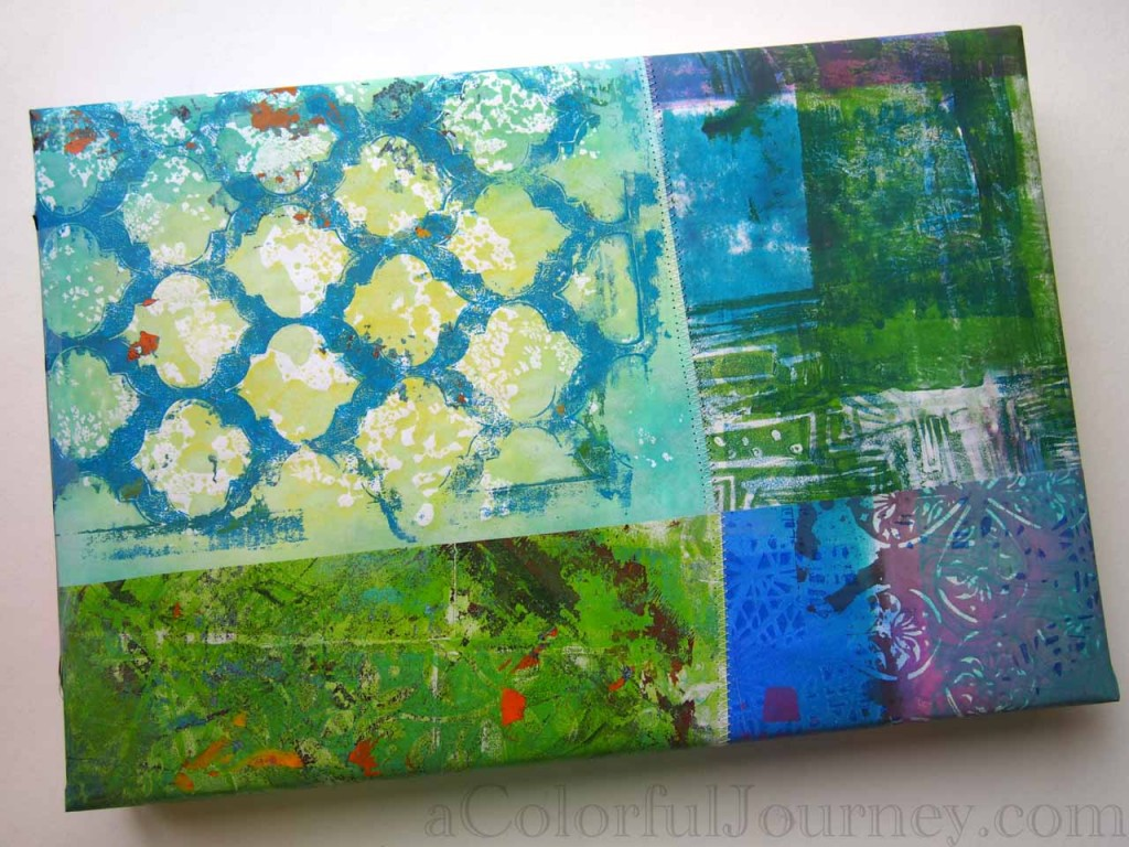 Using Gelli Prints to make gift wrap bonus video