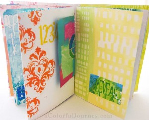 Stenciled Journal Workshop with Carolyn Dube