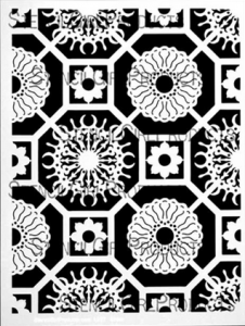 Flower Tiles by Mary Beth Shaw for StencilGirl Products