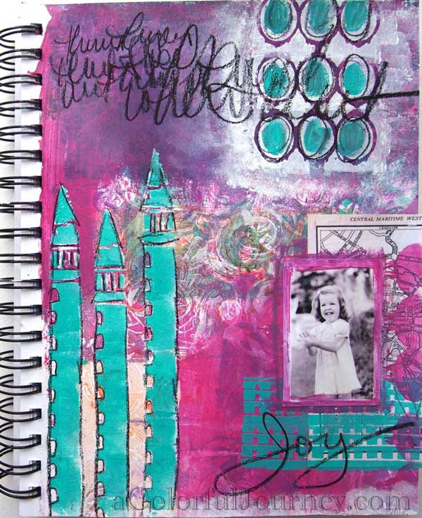 Video  using a stencil inspired by Venice by Carolyn Dube for StencilGirl Products