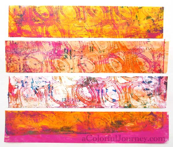 using packing tape on the Gelli Plate with carolyn dube