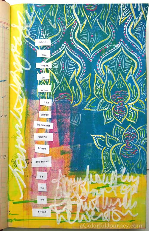 Backed Into a Corner in My Art Journal video by Carolyn Dube