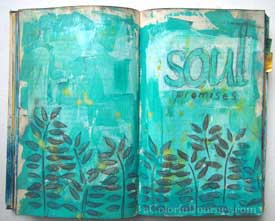 I'm splattering Color Blooms spray inks in this video as I add layers to may altered book journal