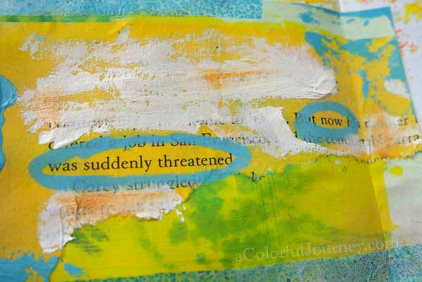 I realized that I am the only one getting in my way when I made this art journal page that started with an index card