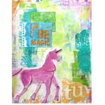 Go Be Magic with a Pink Unicorn in an Art Journal thumbnail