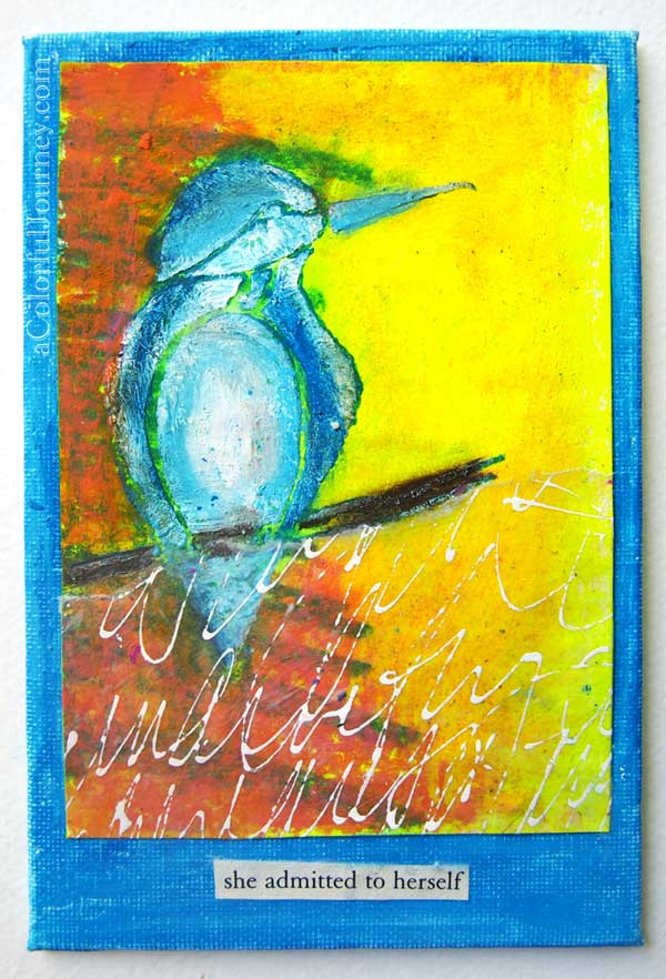 Playing around on an index card by Carolyn Dube