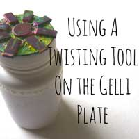 Doing the Twist with a Gelli Plate for this Month's Party! thumbnail