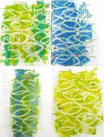 A Colorful Gelli Print Party video tutorial using rope to make your own texture tool for Gelli Printing