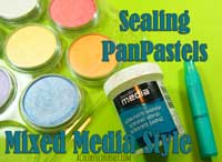 Sealing PanPastels for mixed media projects