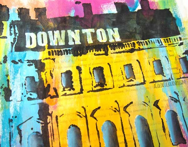 Downton Abbey Inspired Art Journaling with a Stencil by Carolyn Dube