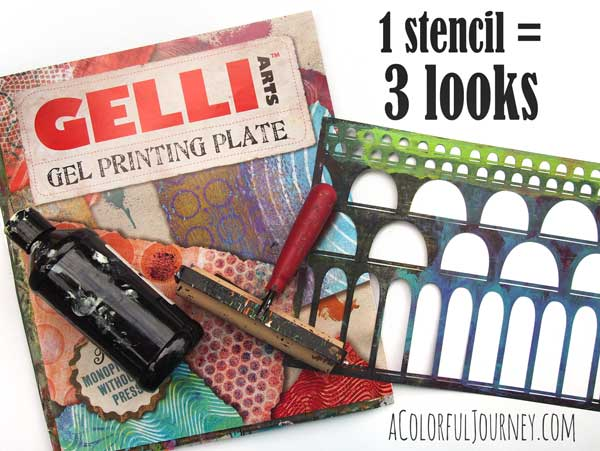 Video using one stencil three ways with a Gelli Plate®