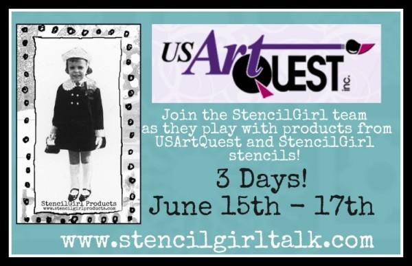 USArtQuest and StencilGirl Fun!