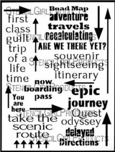 Are We There Yet  stencil by Carolyn Dube for StencilGirl Products