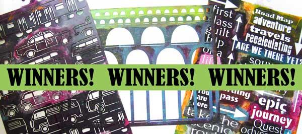 Winners of new stencils!