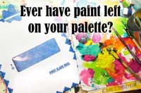 Using leftover paints to play step by step tutorial by Carolyn Dube