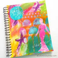 Carolyn is sharing how she went step by step  from loving her art journal page to hating it and back again to loving it.