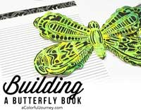 Video creating a fun layered butterfly book for journaling from a stencil