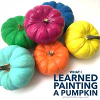 What I learned painting pumpkins…and how ended up just using spray inks on them.