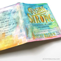She took Brené Brown's words about creativity to heart…and the book jacket!