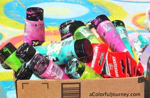 She's got a video showing a fun way to use up every last drop of paint in the tube!
