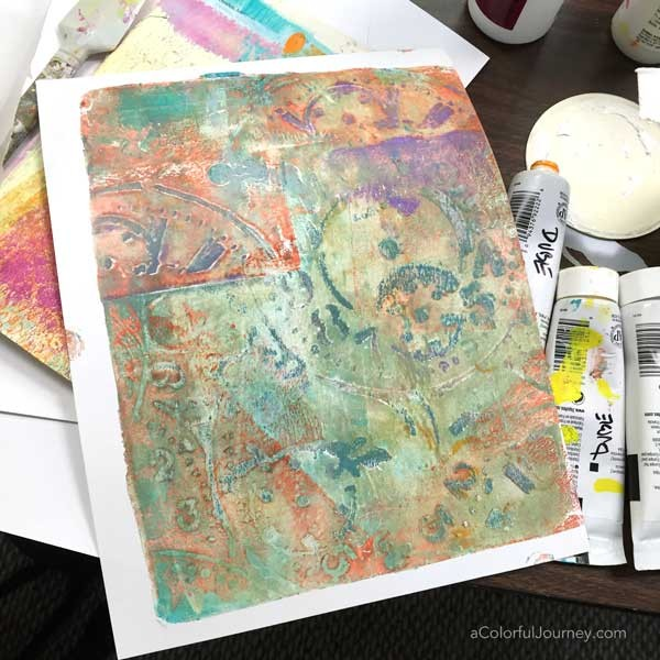 Artful play at Simply Said Rubber Stamps with Carolyn Dube