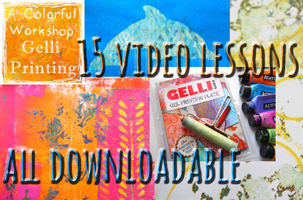 Gelli Printing Workshop with Carolyn Dube