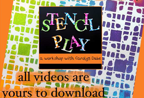 Stencil Play Workshop with Carolyn Dube