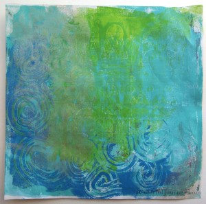 Gelli Plate print with Backporch Artessa stamps