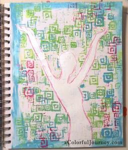 Random Squares Stencil by Jessica Sporn at Stencil Girl