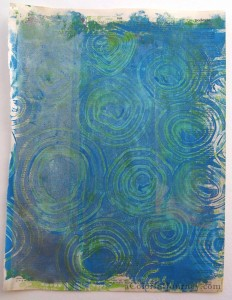 Gelli Plate print with Catalyst tool