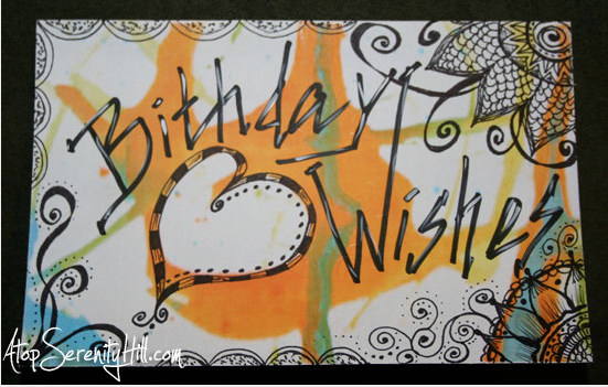 by Consie at http://www.atopserenityhill.com/2013/02/25/a-spark-birthday-card/