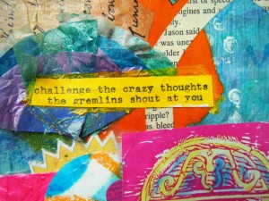Getting Rid of the Gremlins in My Head Through Art Journaling with Carolyn Dube