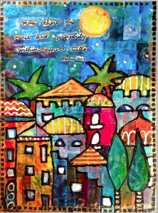 June Colorful Gelli Print Party Check In