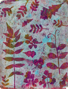 http://marshaleith.wordpress.com/2013/06/11/gelli-prints-with-leaves-5-prints/