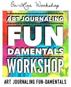 Art Journaling FUNdamentals workshop with Carolyn Dube
