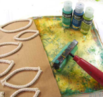 Using rope to make a texture tool for Gelli printing