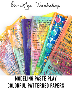 Modeling Paste Play a la carte workshops with Carolyn Dube