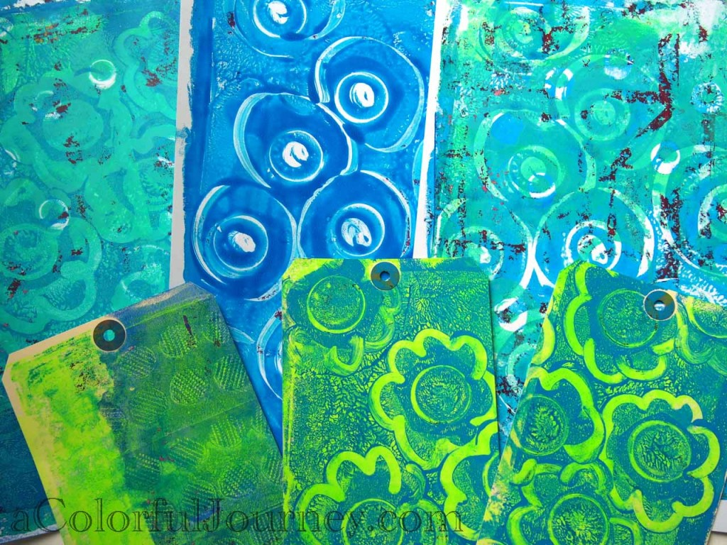 Gelli Printing Video for A Colorful Gelli Print Party with Carolyn Dube