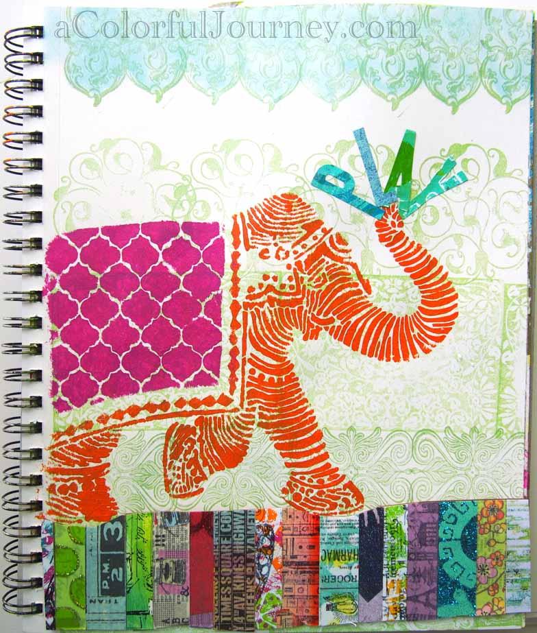 Stencilgirl Elephant Stencil Carolyn Dube